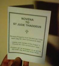 St Jude Novena Leaflet